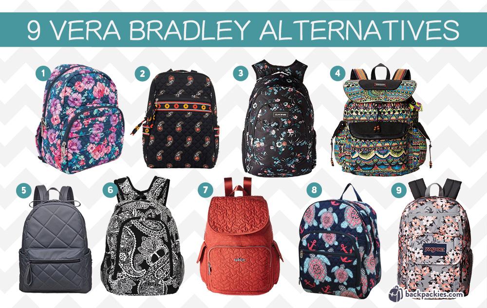 Quilted backpacks like Vera Bradley