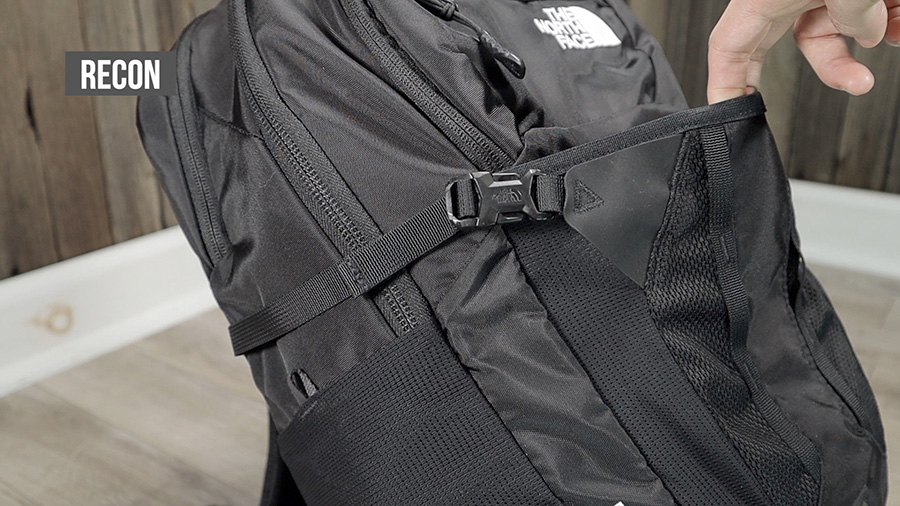 The North Face Recon front stash pocket