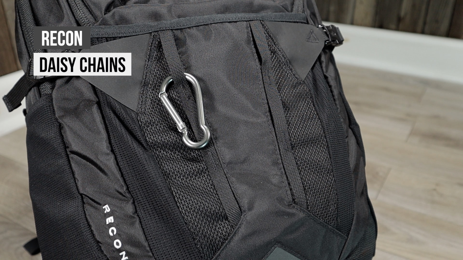 North Face Recon backpack daisy chains