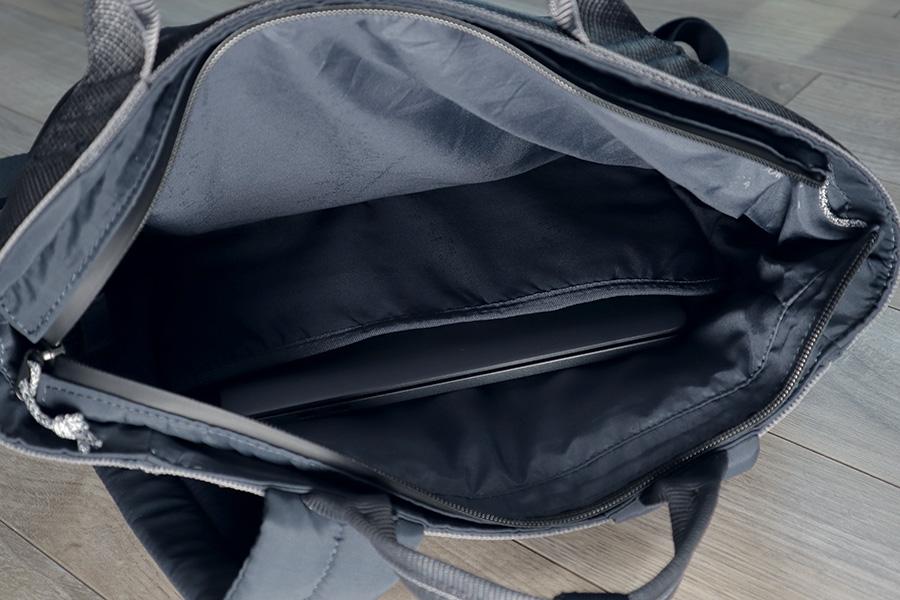 Inside the Topologie Haul - laptop sleeve