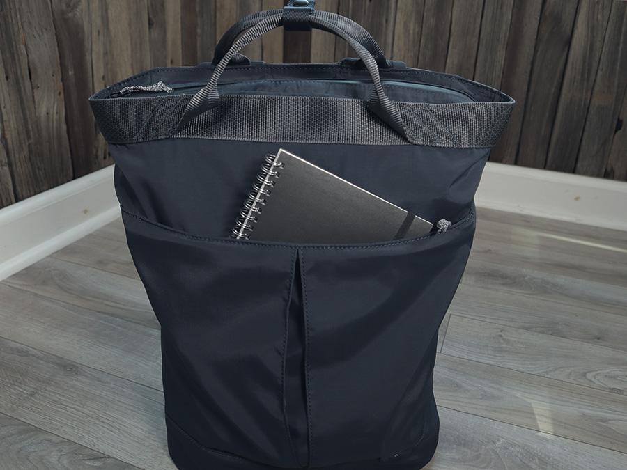 Topologie Haul navy backpack front pocket
