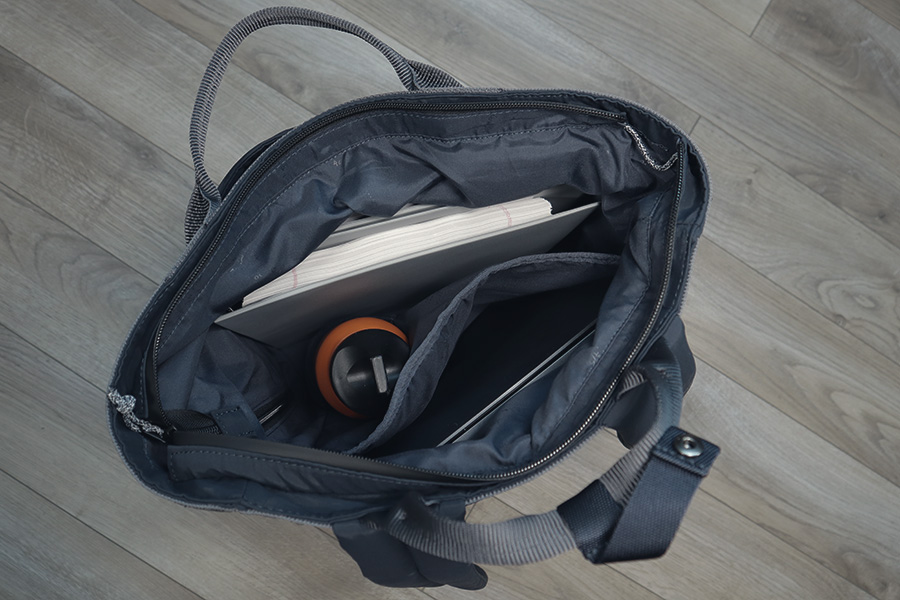 Water bottle pocket placement makes it difficult to store larger items like books