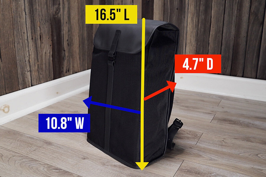 Topologie Satchel Backpack Review - measurements