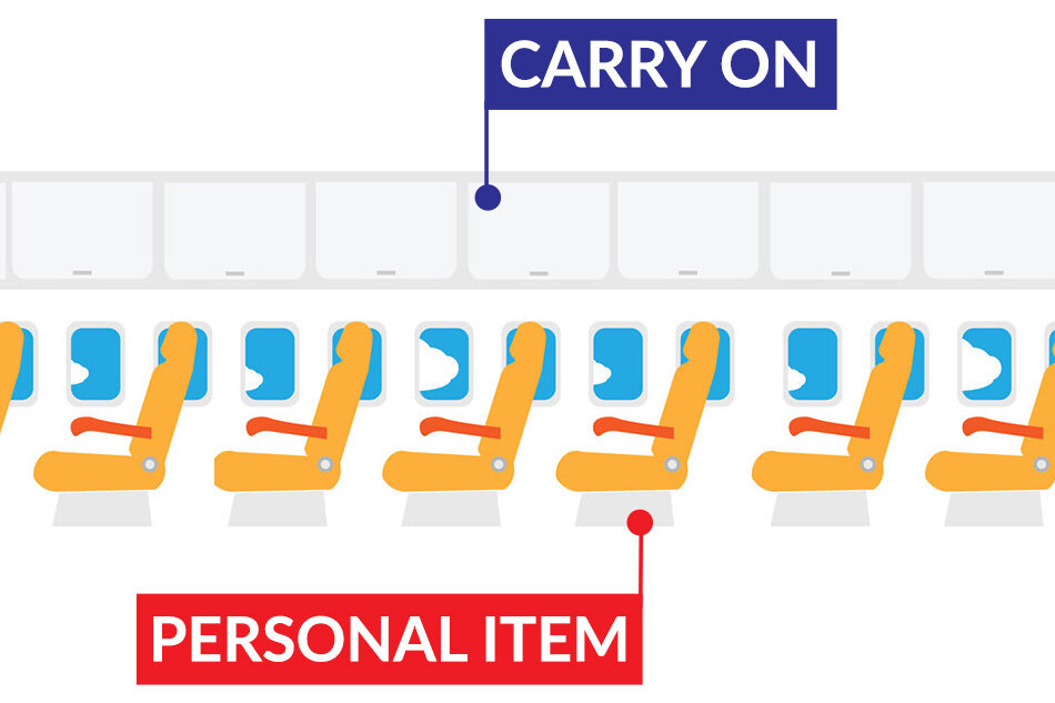 Airline carry on vs personal item difference