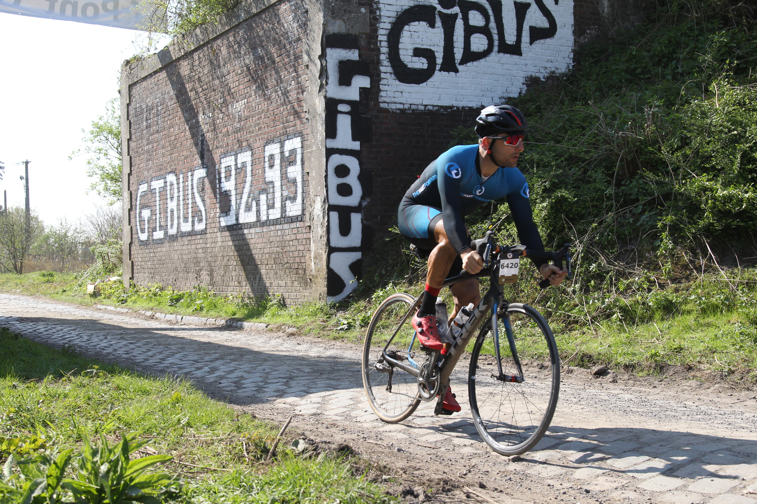 Combining my skill sets of fitness and bike handling on the cobbles of Paris-Roubaix = bliss vs pain and suffering for hours.