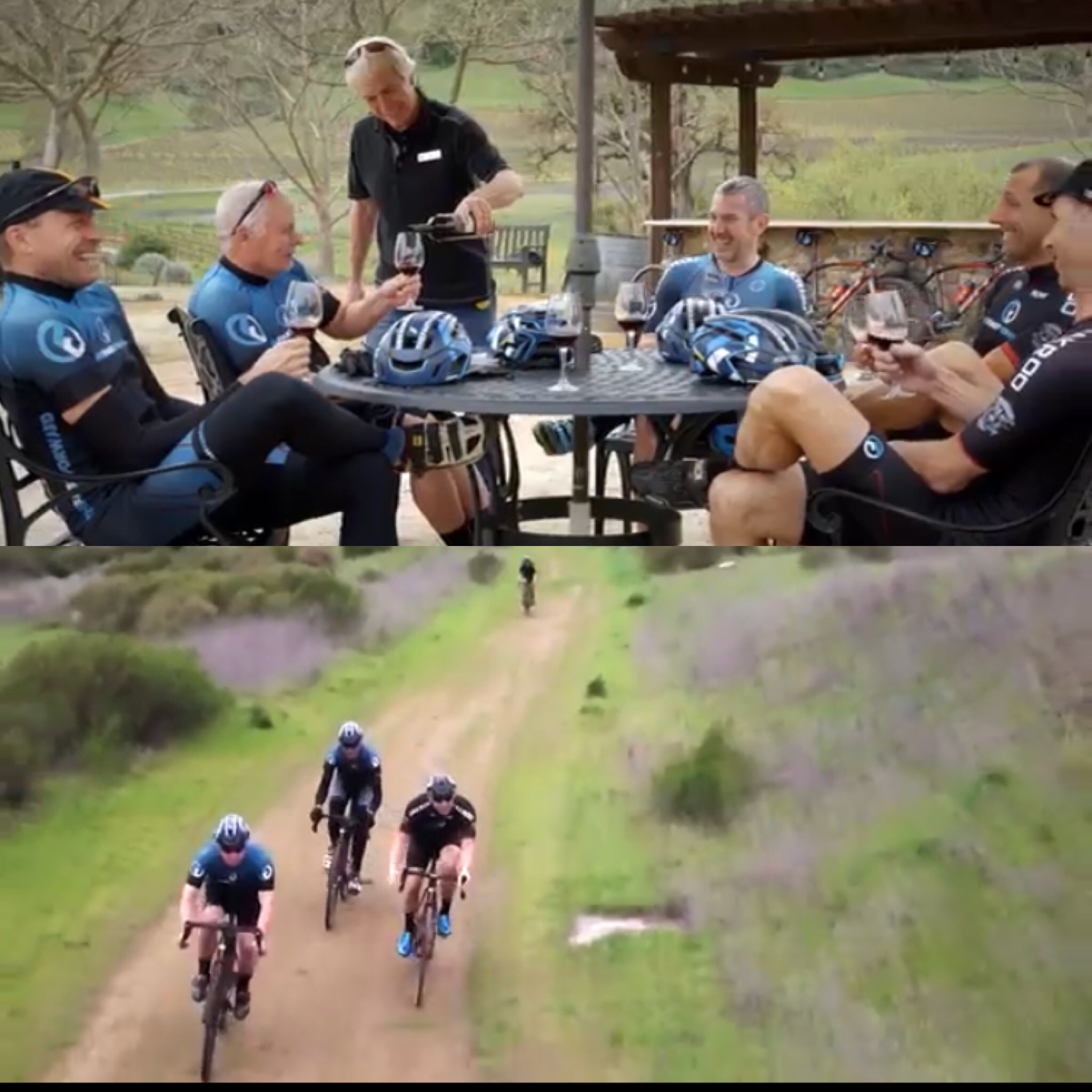The team doing what it knows best. Having fun and riding hard!