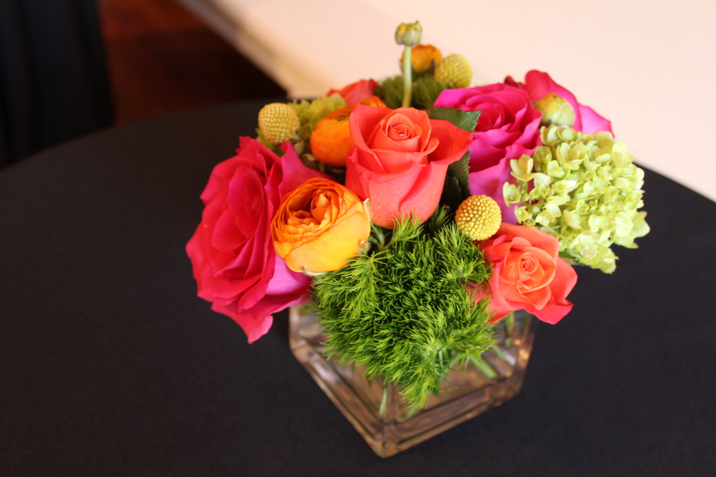 Colorful Pink, Green and Pink Floral Arrangement in 4x4 Cube 2.jpg