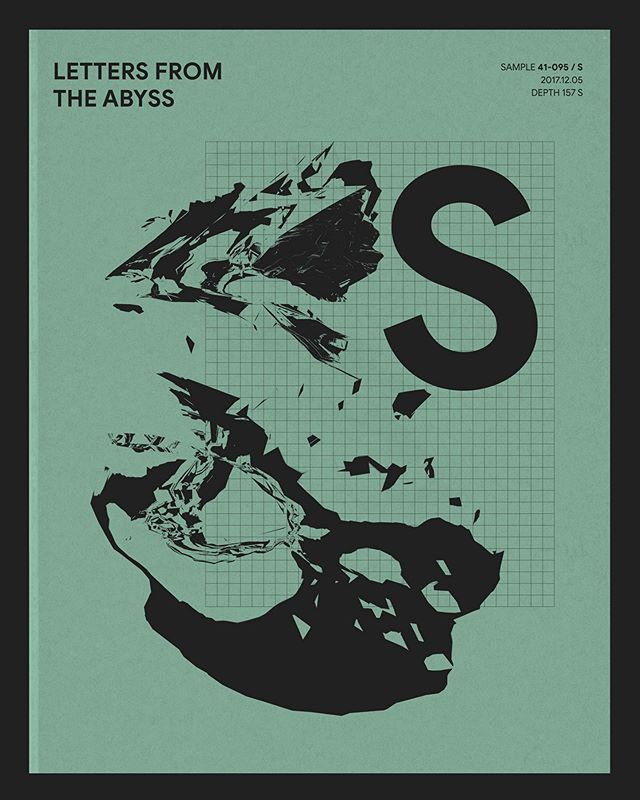 A series of posters from @kalle_haglund @young_poseidon_ent - -  #graphicdesign #artwork #typography #posters #illustration #letters #monochrome #abyss #design #art #visual