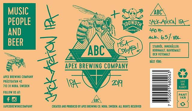"""There are wasps and then there is W.A.S.P. The new IPA from allmighty @apexbrewingcompany, a collaboration with SDD'N'DTH Brewing Co, is a homage to one of the best singers and songwriters from the dark era of heavy metal - -    Blackie Lawless. The """"Jack Action IPA"""" will throw you back in time to when cheap leather, blood and crotch-mounted saw blades were an everyday occurrence. Those were the days... - - - #jackactionipa #musicpeopleandbeer #craftbeer #ipa #brew #micro #hop #beer #wasp #blackielawless #c4d #illustration #graphicdesign #concept #octane"""