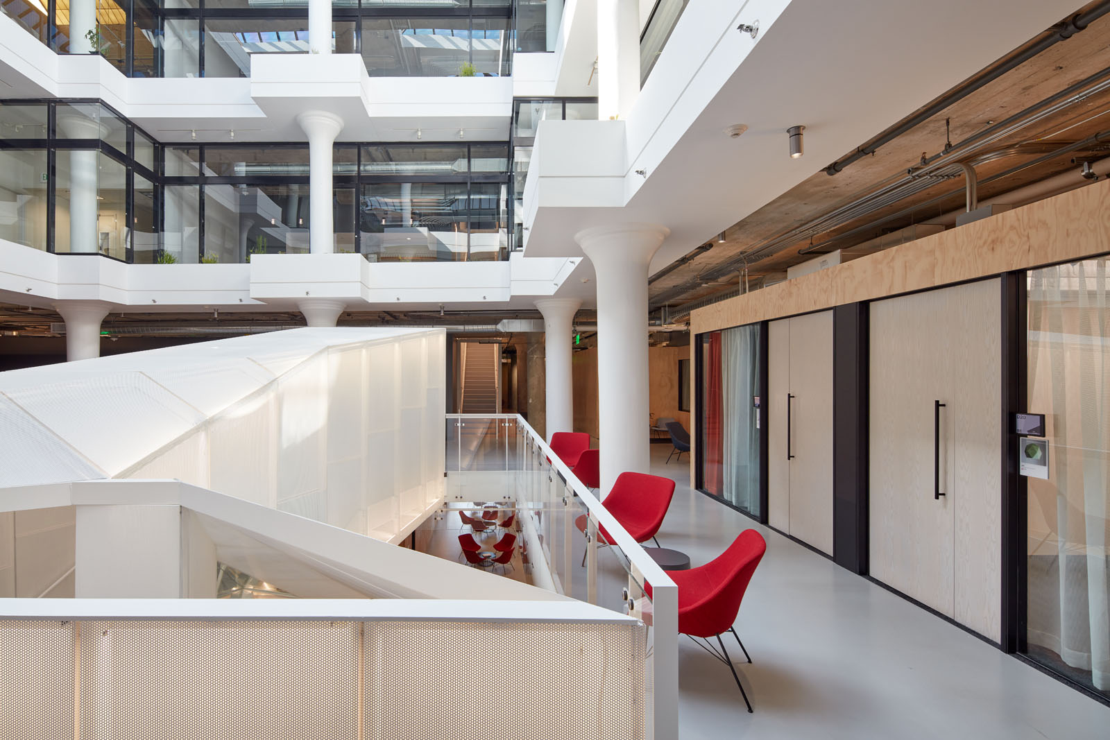 Pinterest Headquarters Atrium Workstations