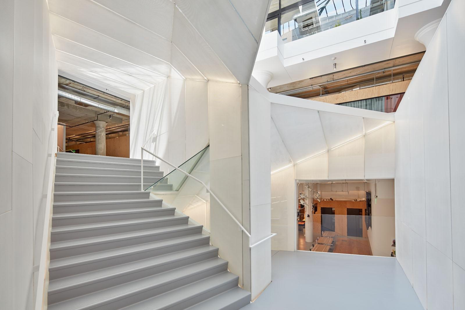 Pinterest Headquarters Knitted Stair Atrium