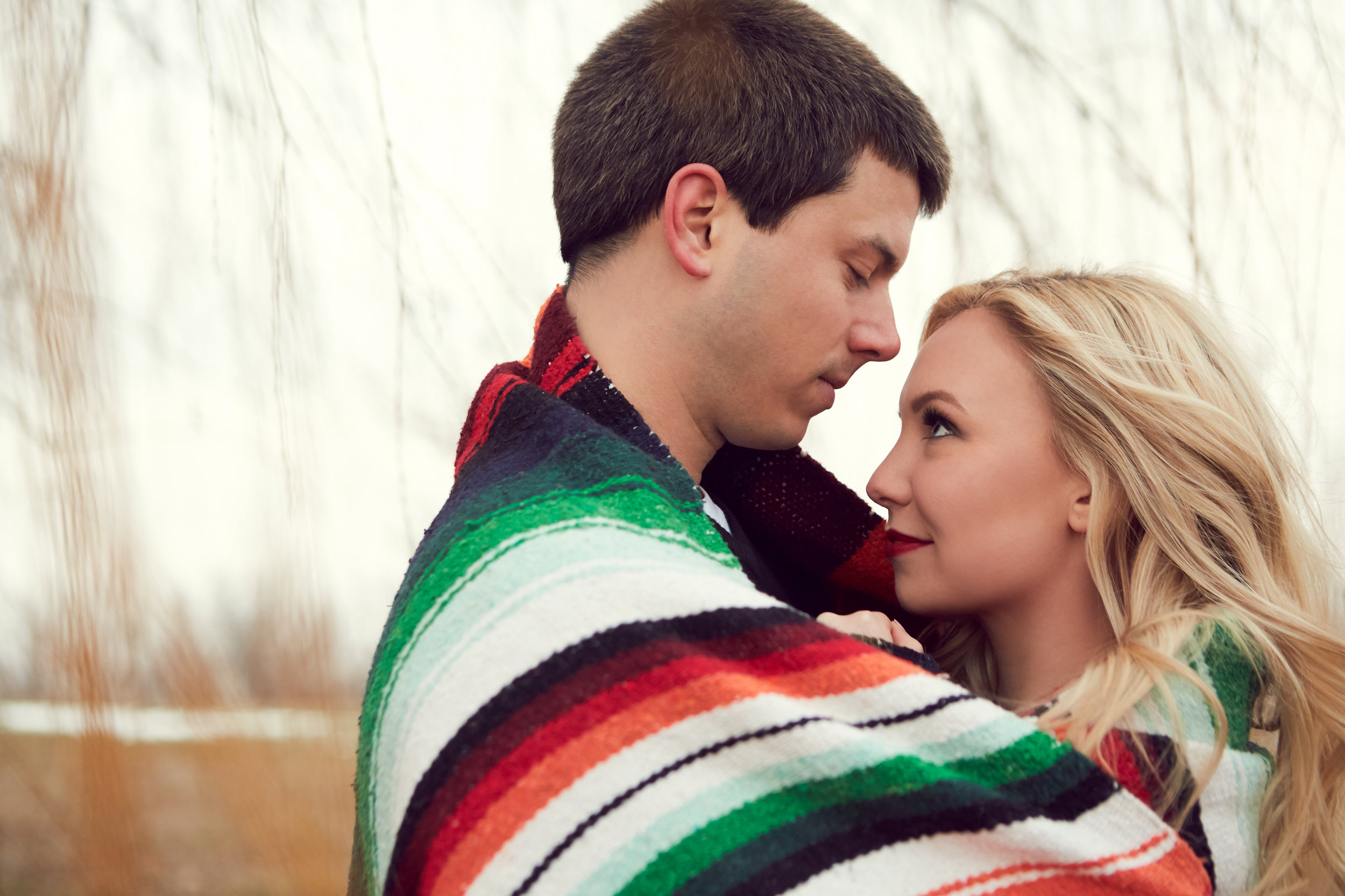 Hende + Mike's Wisconsin Engagement Photos - December Engagements | De Soto, WI | WinterGallery Blog Post