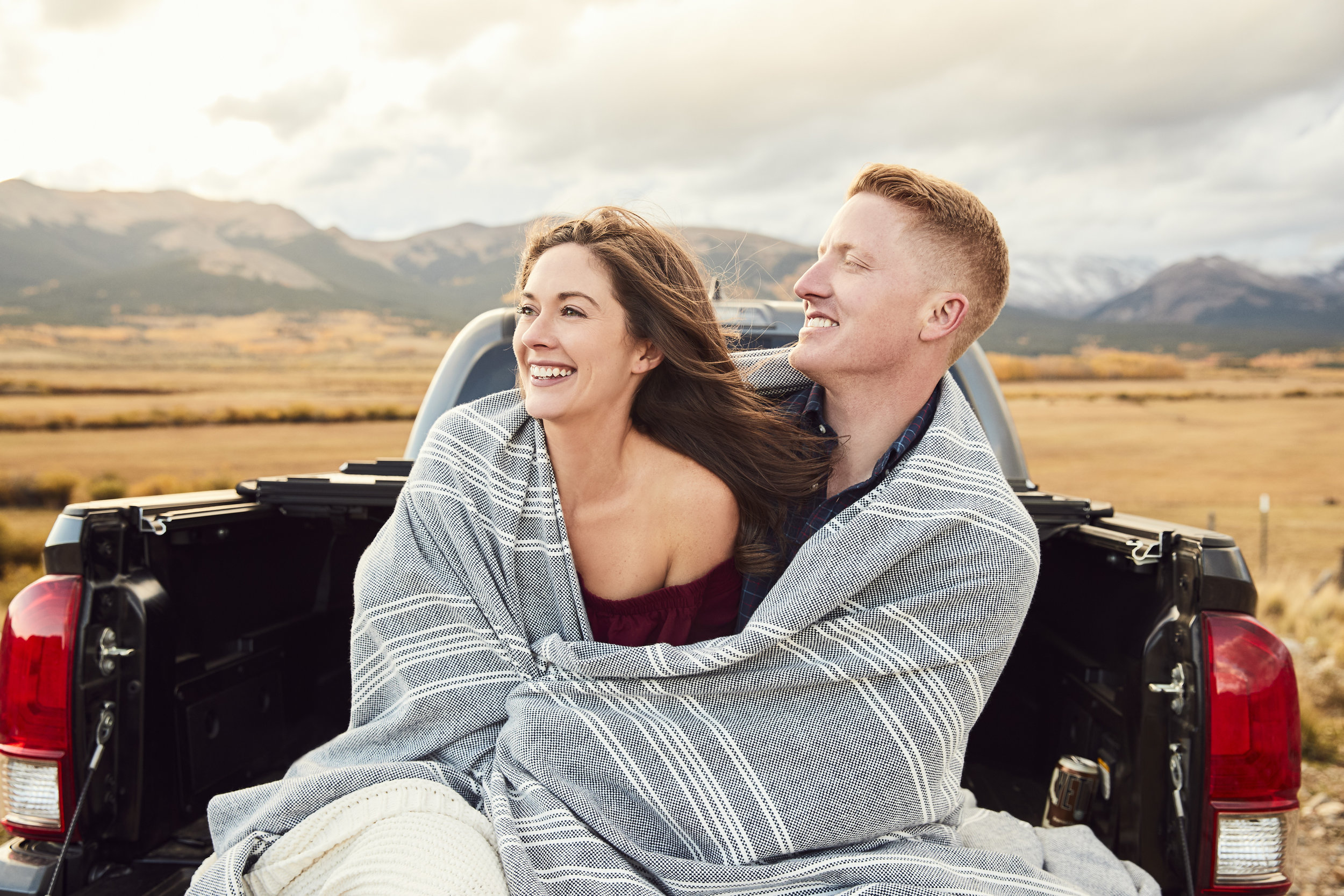 Emily + Jeff's Kenosha Pass Engagement Session - Kenosha Pass, CO // Beer // Aspens // EngagementsEngagement Photos Blog Post