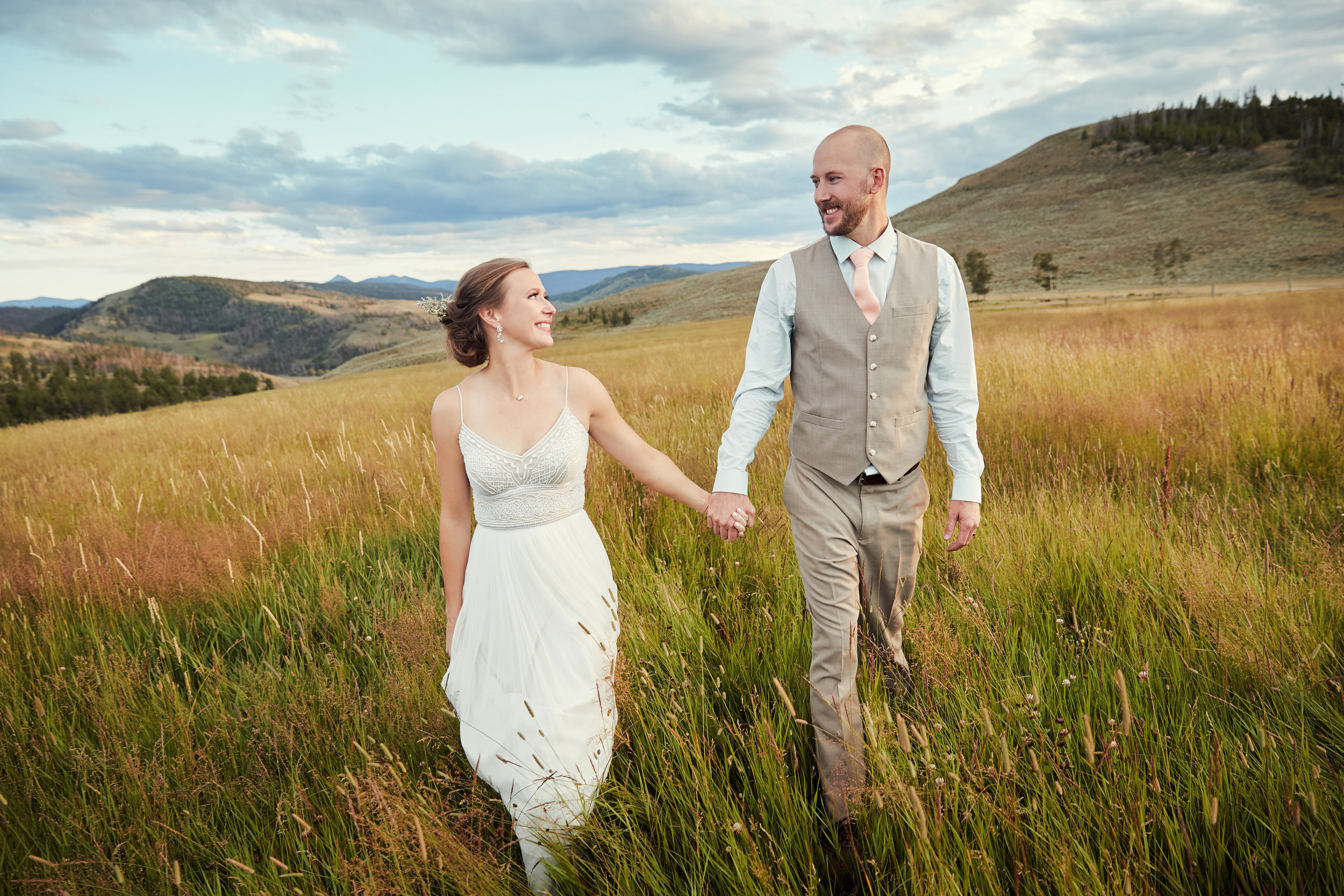 Alex + Tim's Strawberry Creek Ranch Wedding - Granby, CO // Meadow // Hawaiian Themed WeddingWedding Day Blog Post