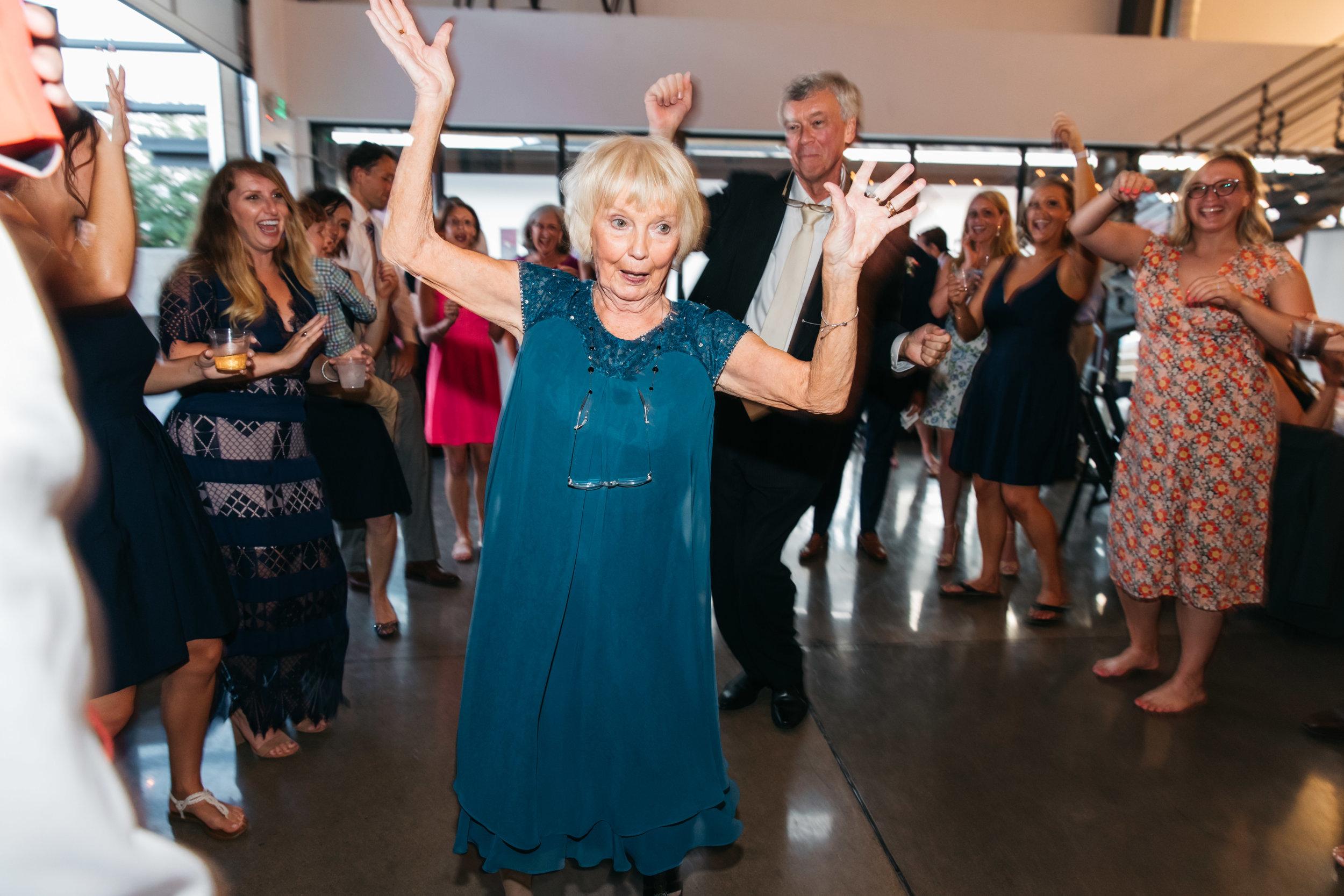 grandma wedding dance