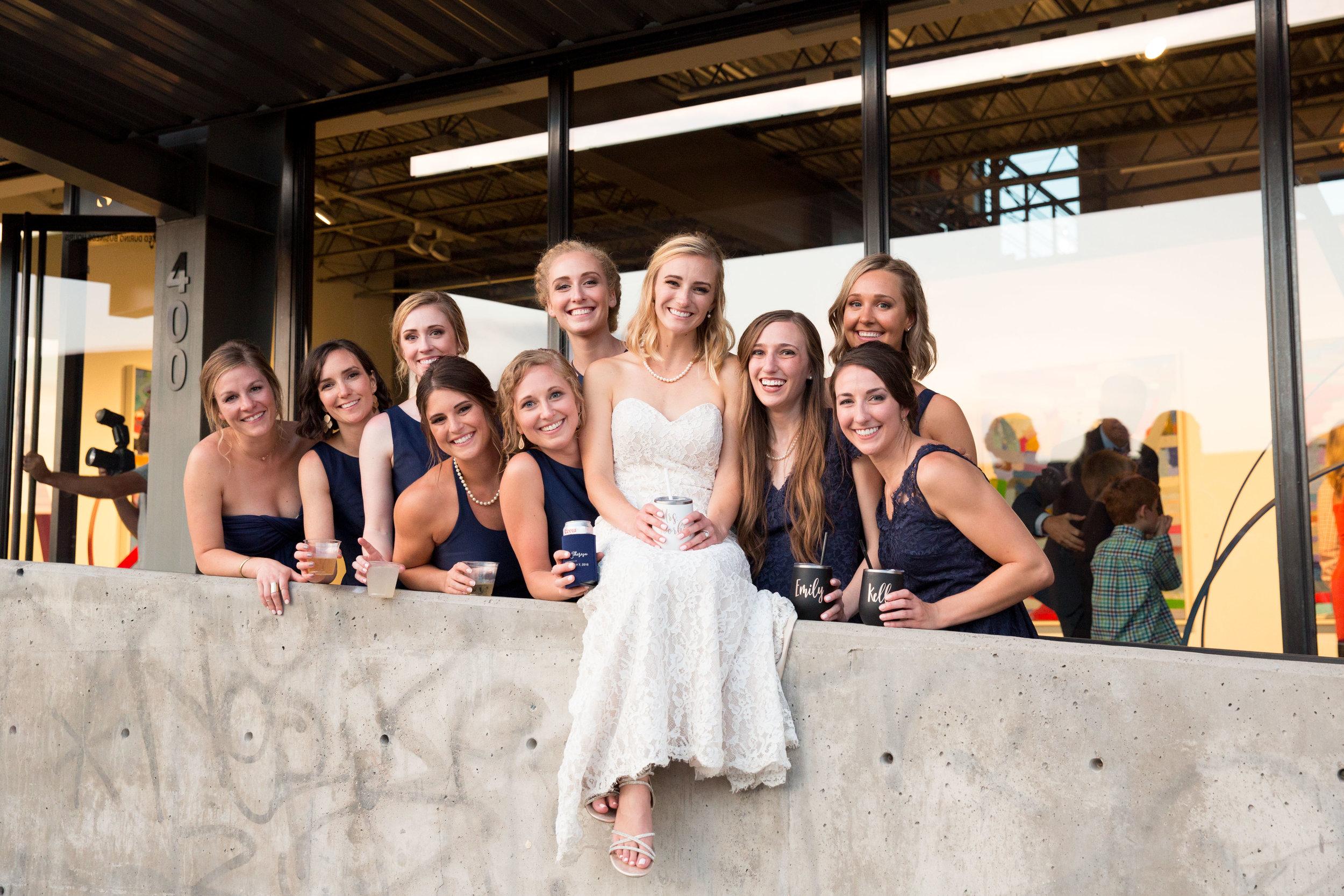 art district denver wedding party