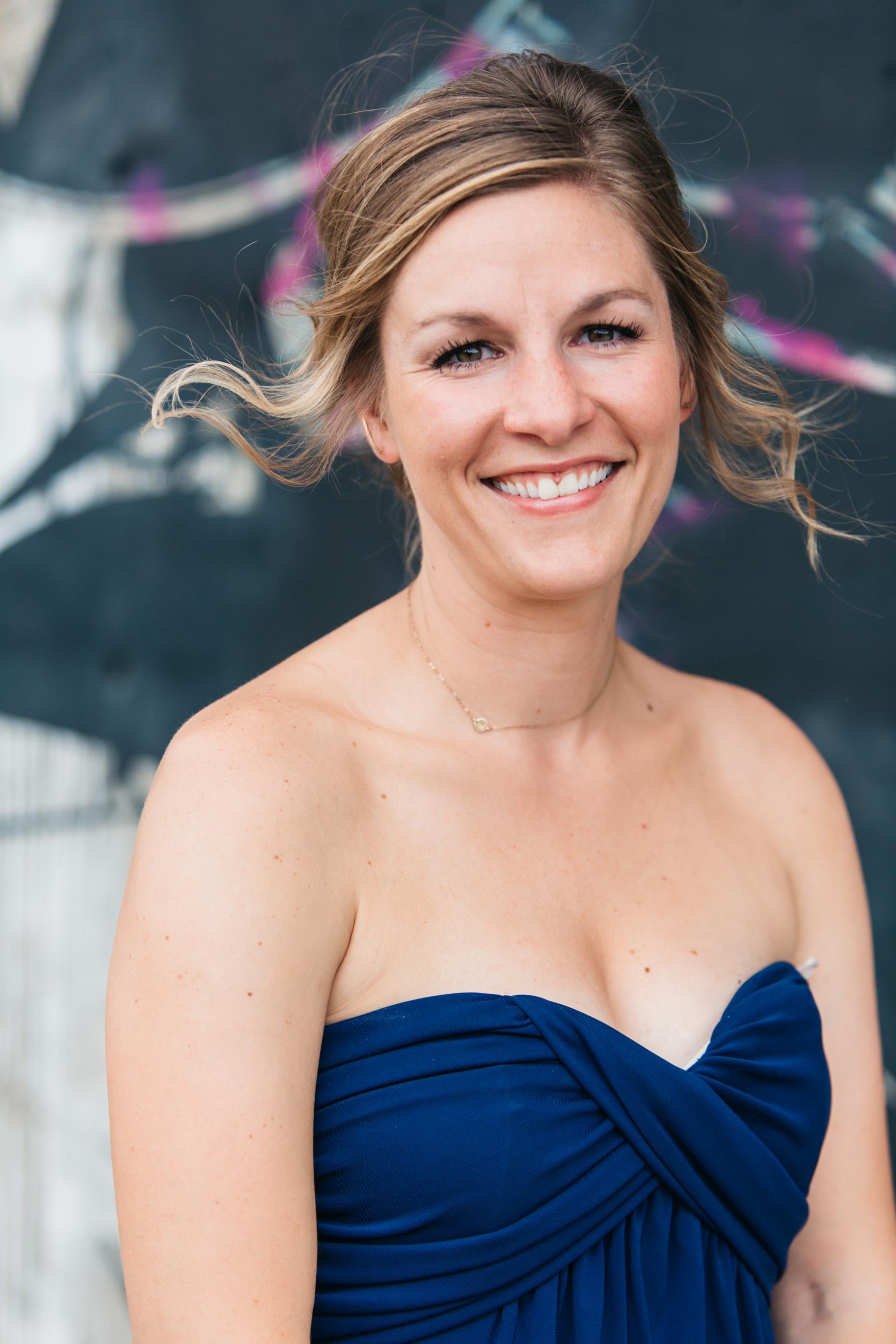 strapless bridesmaid blue outdoor denver