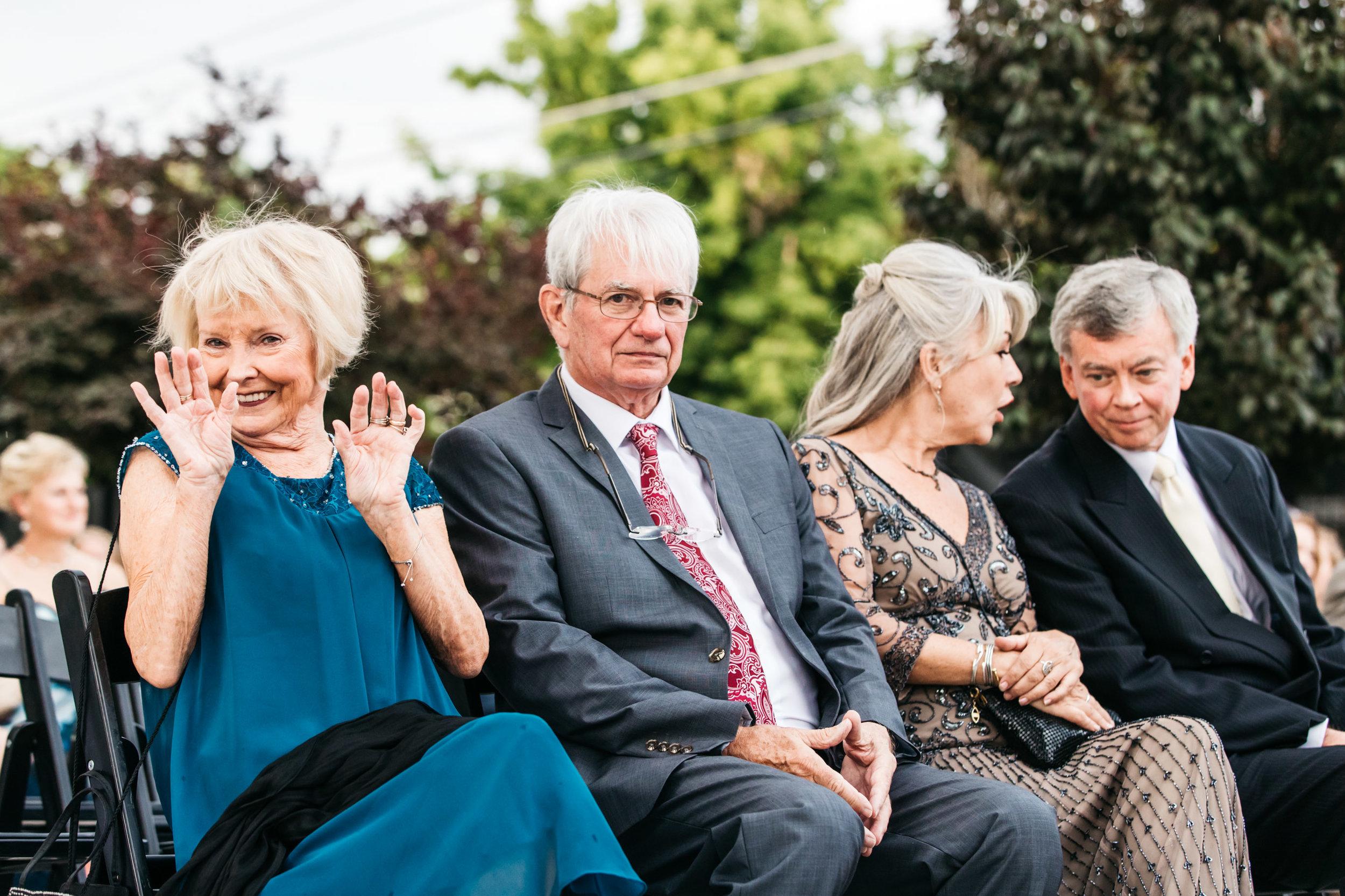 Funny Grandma wedding ceremony