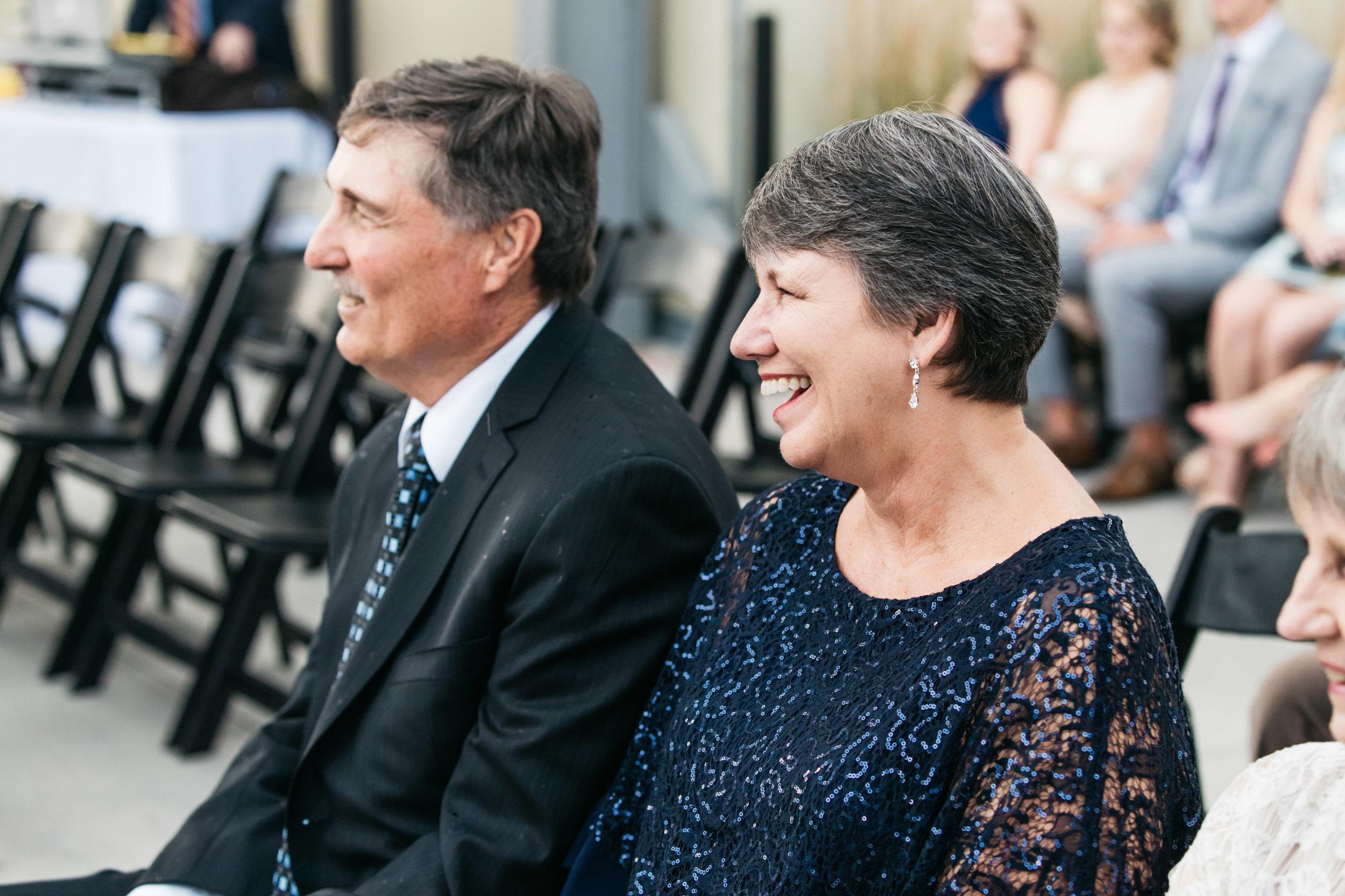 Parents during vows