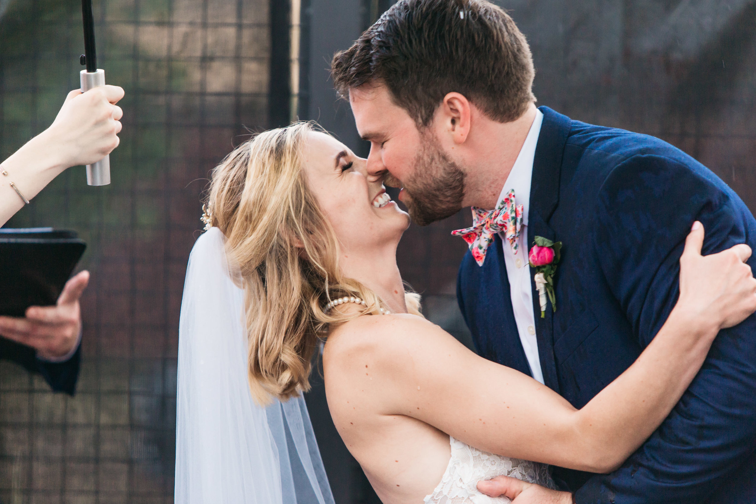 first kiss after vows