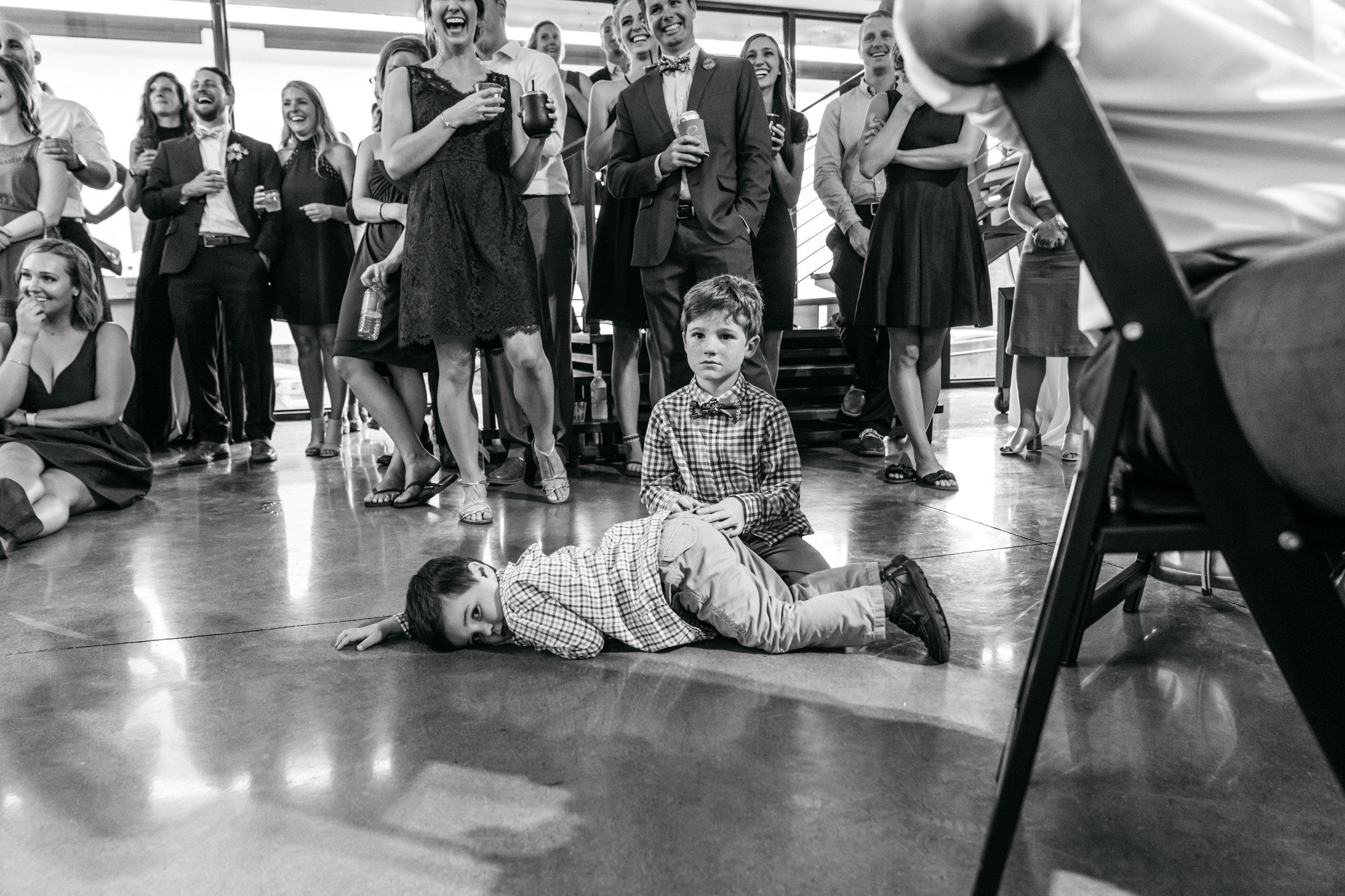 funny kids wedding reception