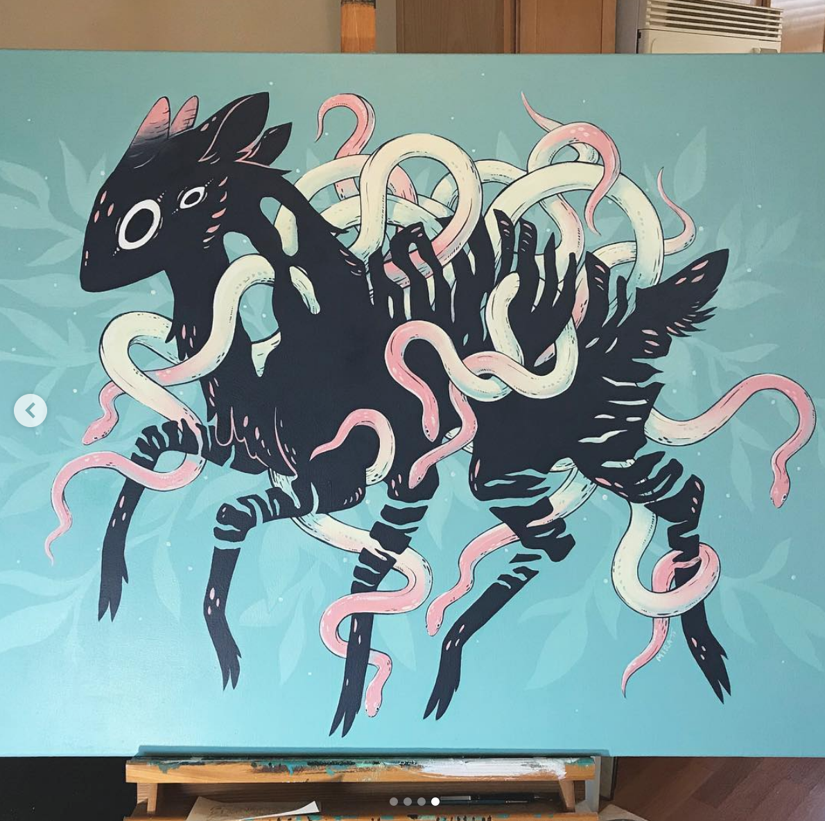 """LARGE Acrylic Painting, 34"""" x 54"""" ~$900+ *only if liability contract is available"""
