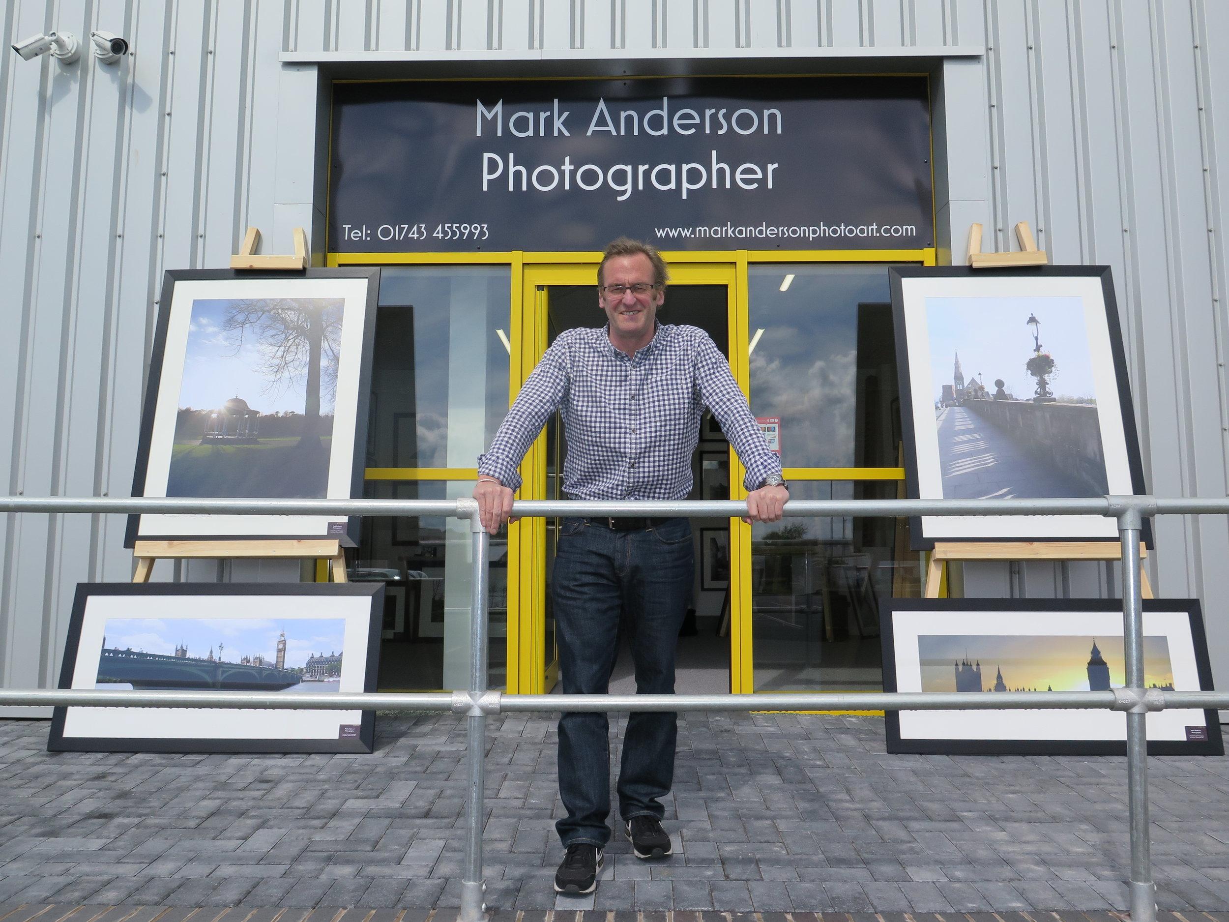 Mark Anderson outside the new studio.