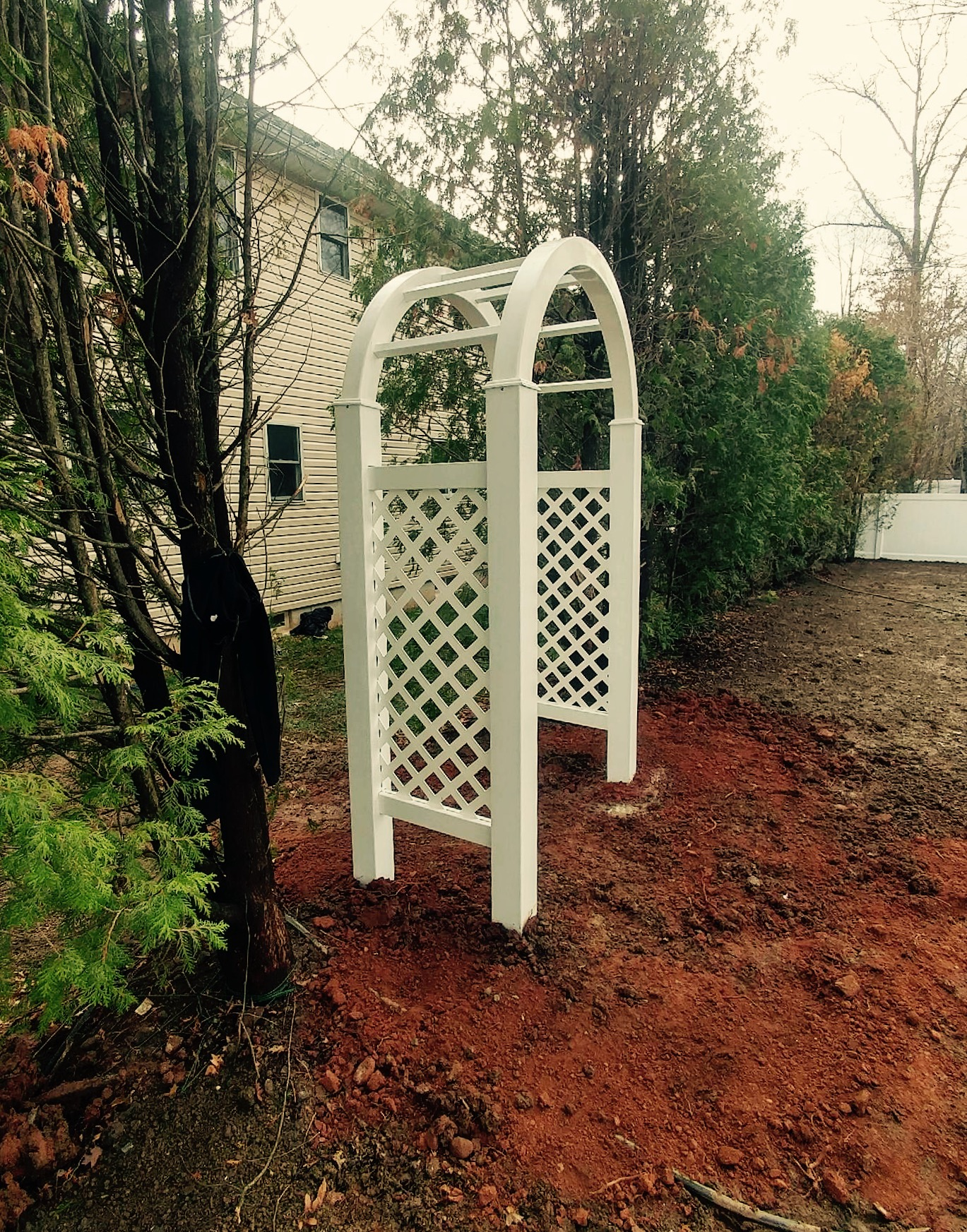 Vinyl Fence Arbor installation