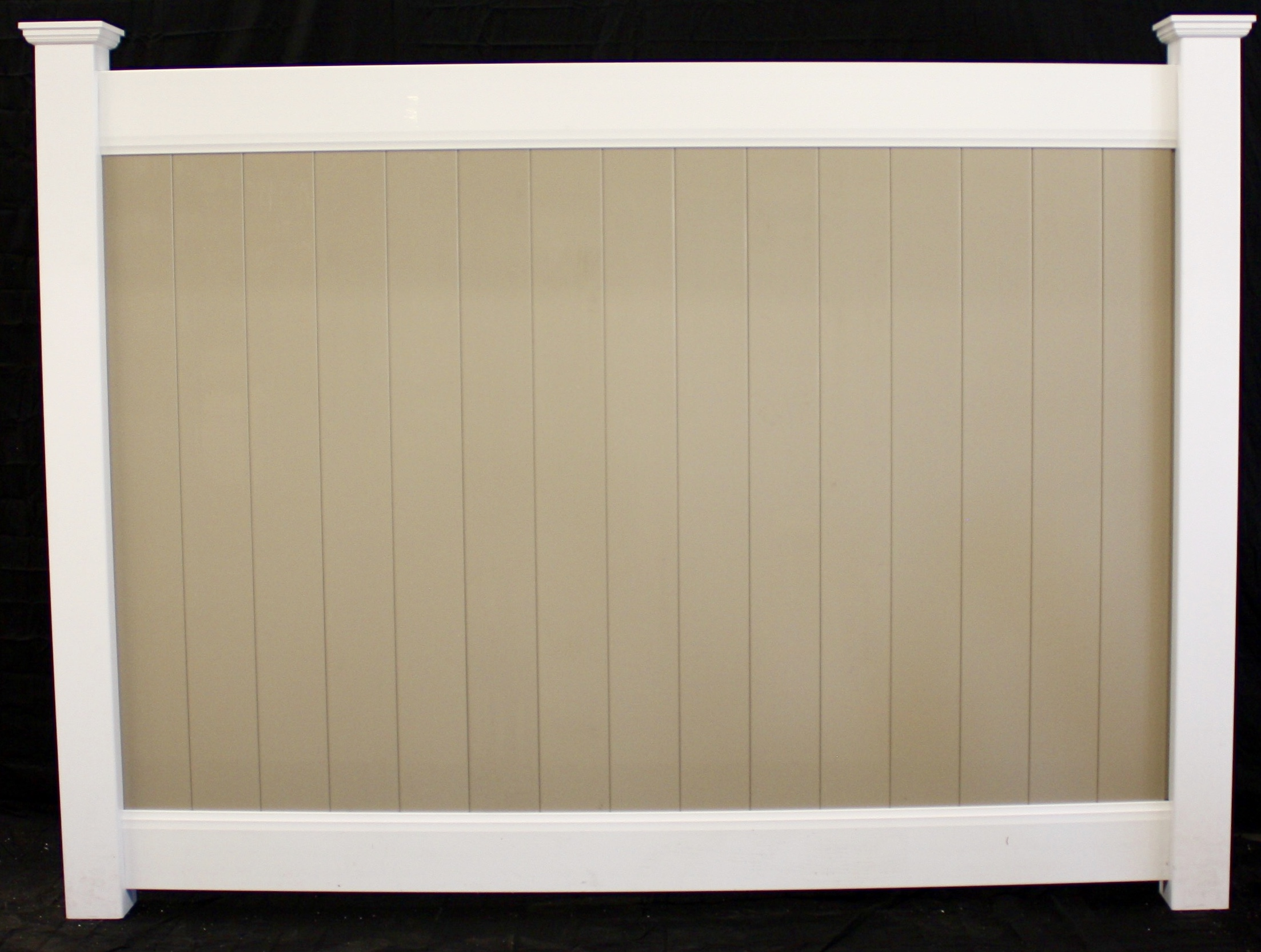 Two tone clay tongue and groove boards white rails