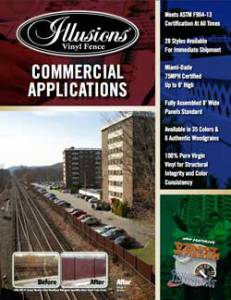Illusions Vinyl Fence Commercial and Industrial Vinyl Fence