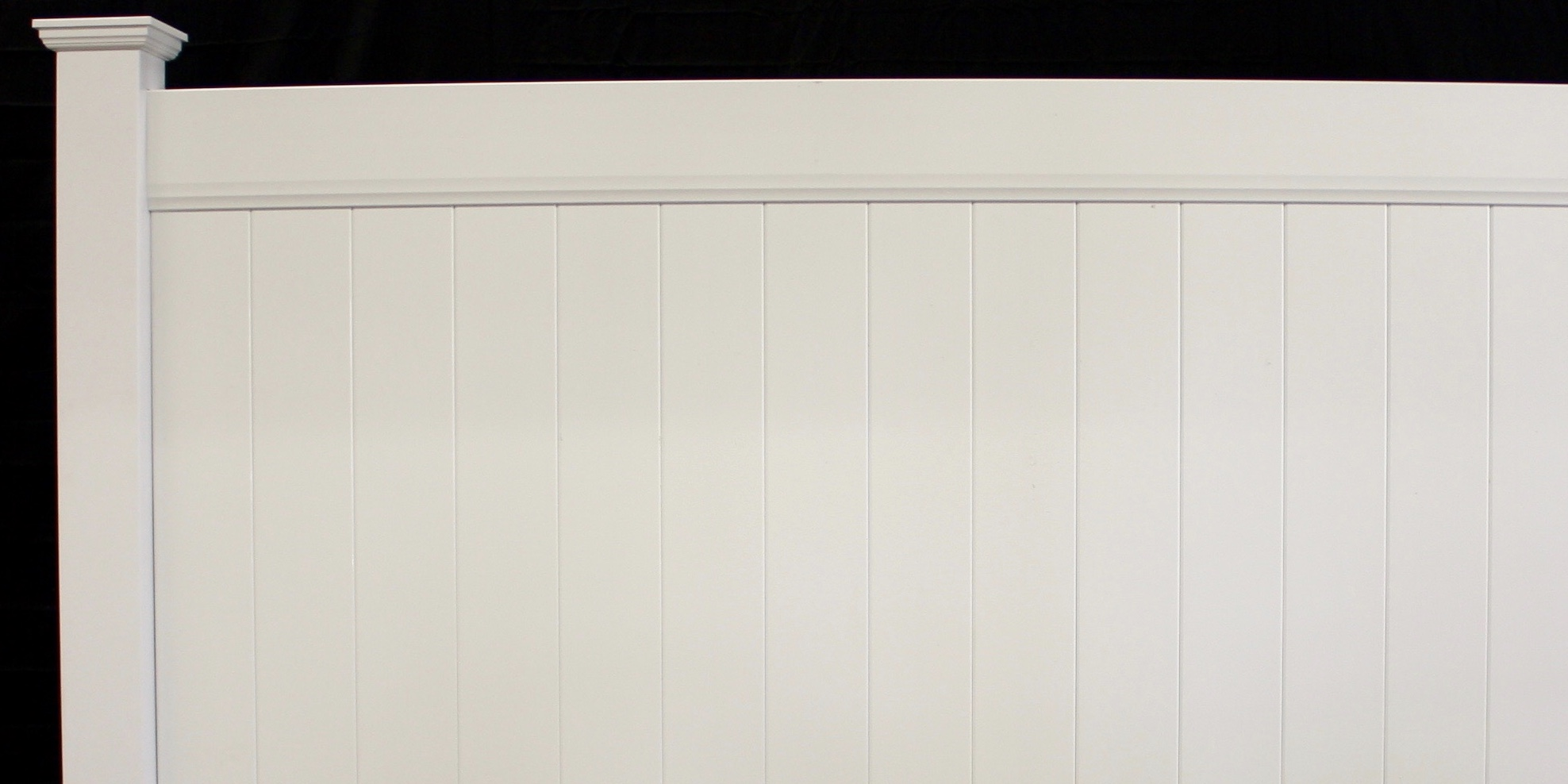 New York Solid Privacy Vinyl Fence Style