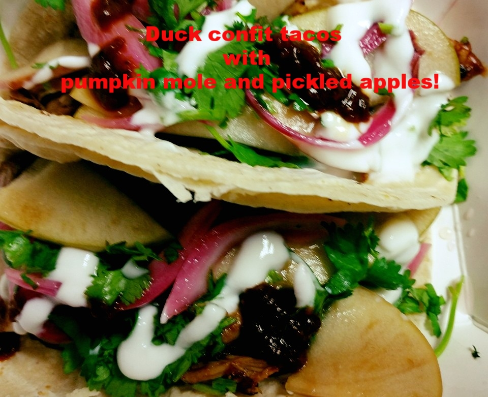 Automatic Taco - duck confit tacos with pumpkin mole and pickled apples!.jpg