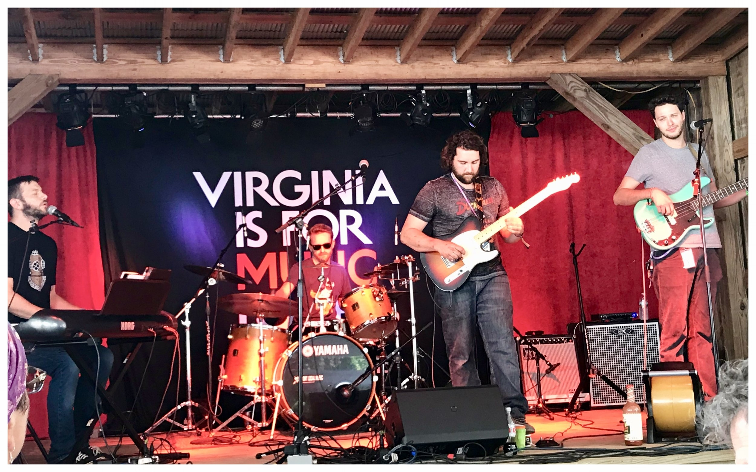 Sid Kingsley Band on the Floydfest VIP stage