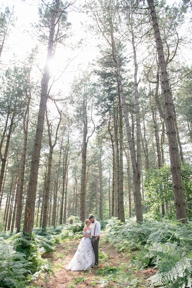 Happy Valley Norfolk woodland wedding