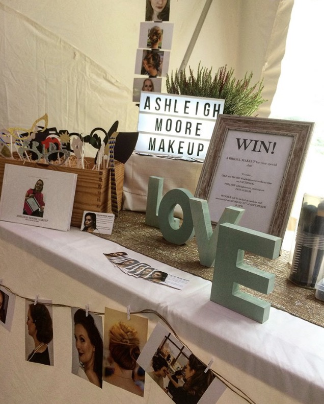 Ashleigh Moore Make Up  looked fab at the Wedding Festial
