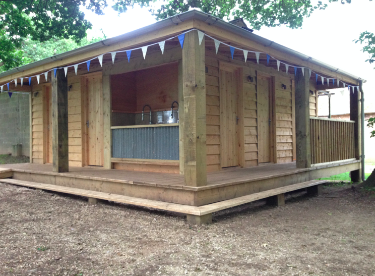 glamping toilets and showers norfolk