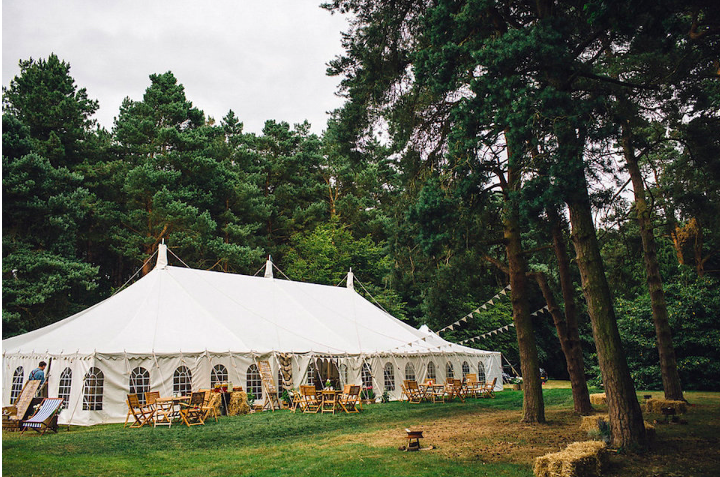 rustic wedding venue with woodland and water