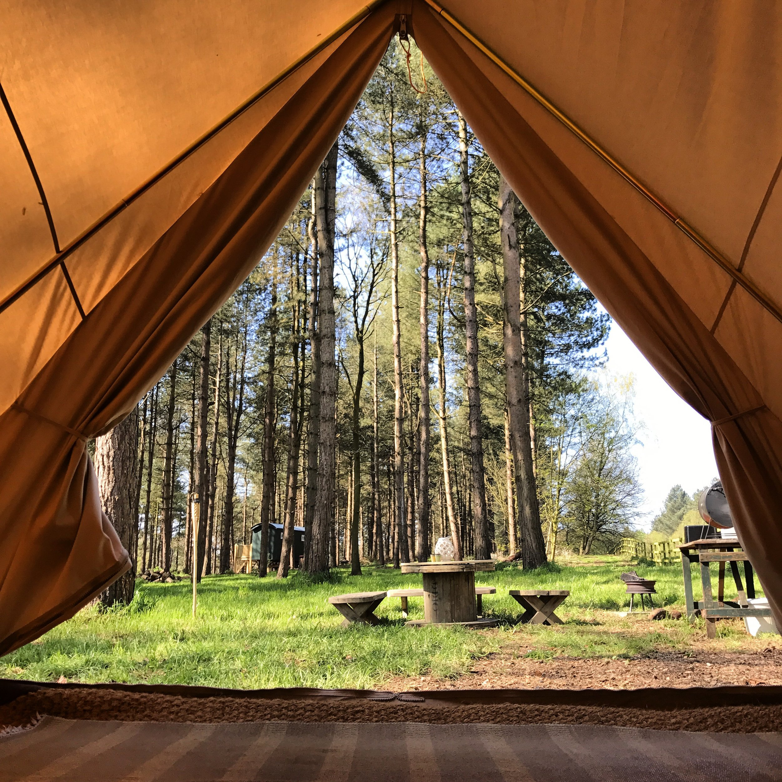Stepping into the Wild from our King Bell Tent