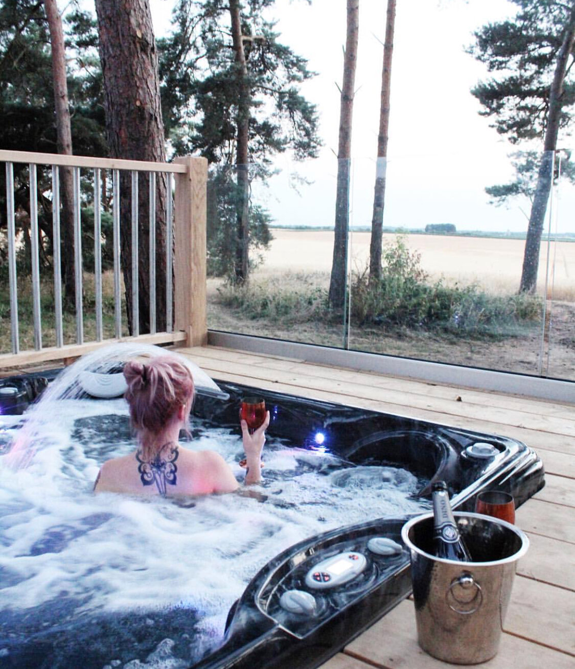 glamping with hot tub in Norfolk