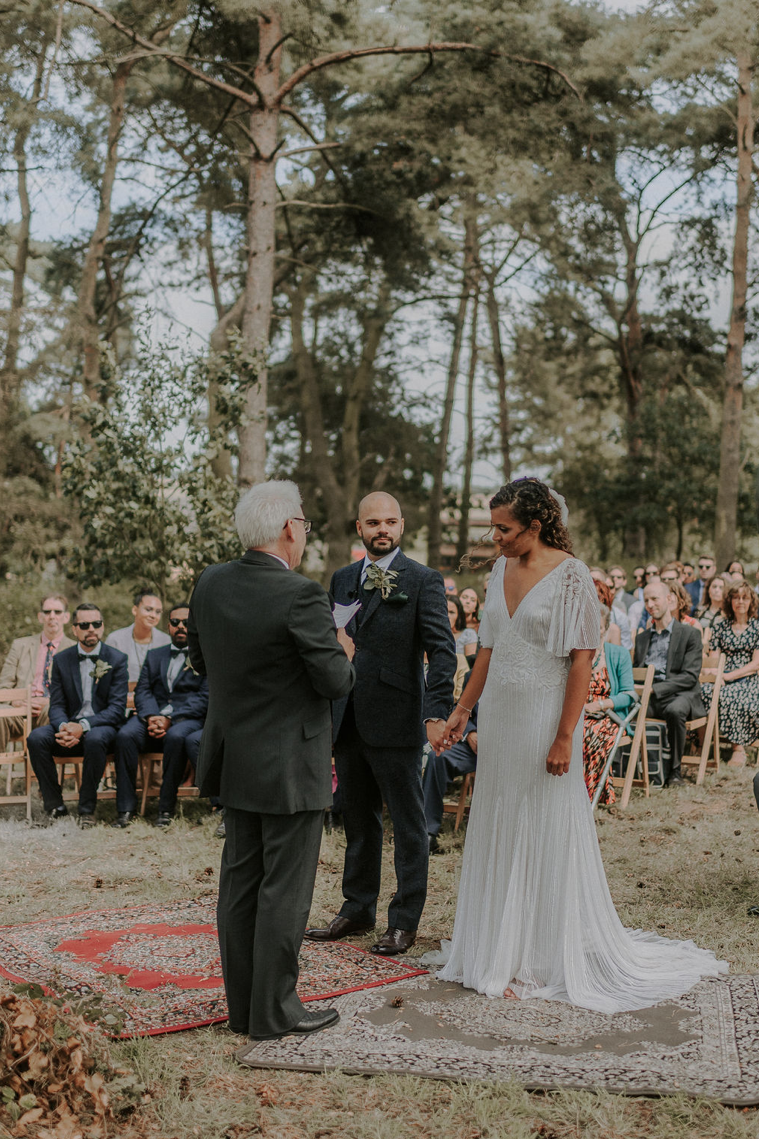 Woodland Wedding Ceremony at  Happy Valley