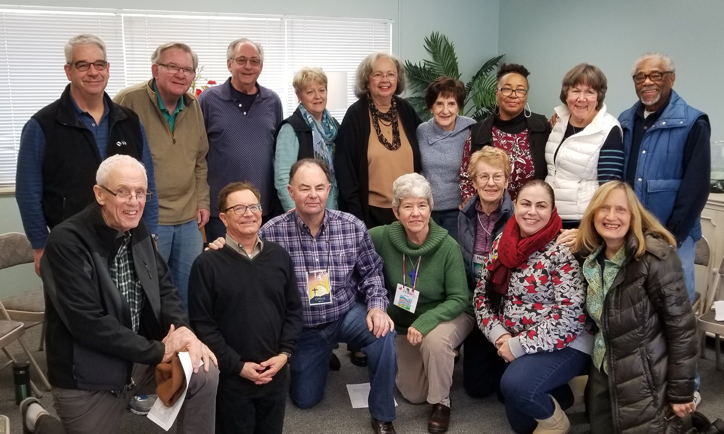 Back Row:  Tom Gannon, Ron Leach, Tom Brawley, Susan Fischer, Bettye Kray, Cathy Cunningham, Fleta Matthews, Peggy Pugh, Jim Matthew.   Front Row:  Richard Olive, Mike Ardito, Tom Nelson, Jean Nelson, Helga May, Mary Bartunek, Anna Villalon