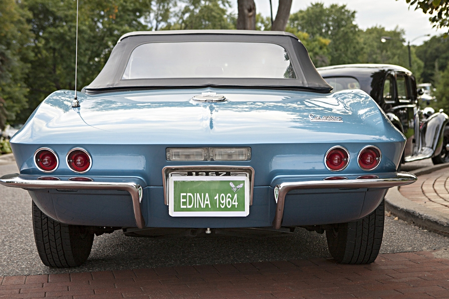 blue car license place Edina Class of 1964