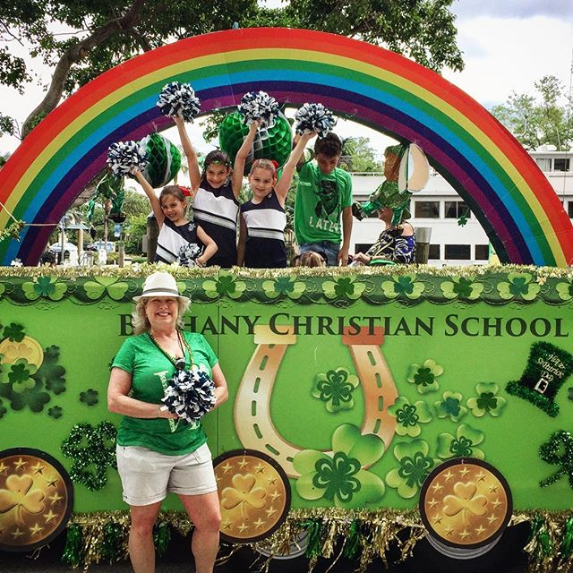 Getting ready for our first St. Patrick's Day parade in Fort Lauderdale!