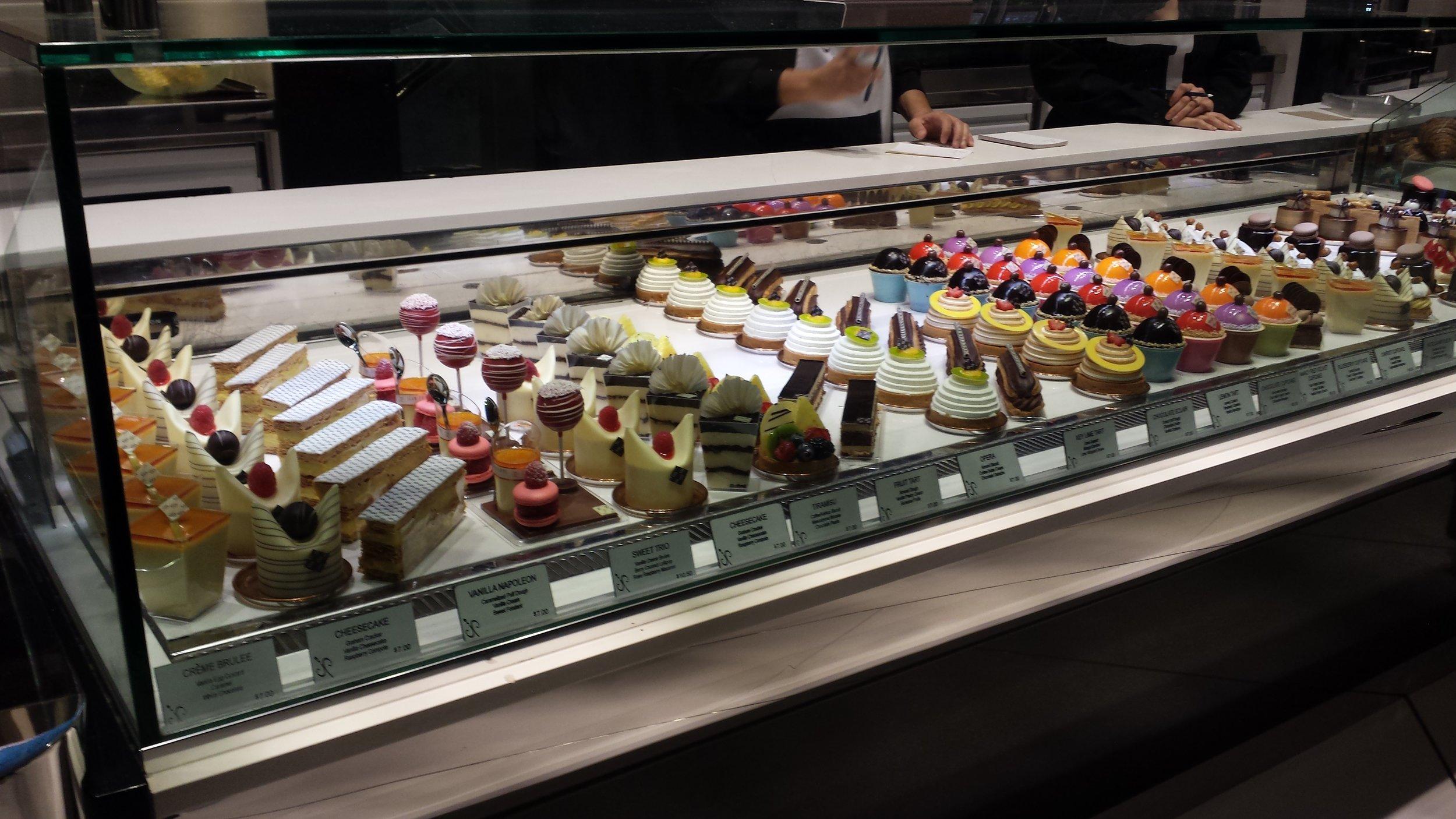 Lovely, lovely treats at the Aria bakery!