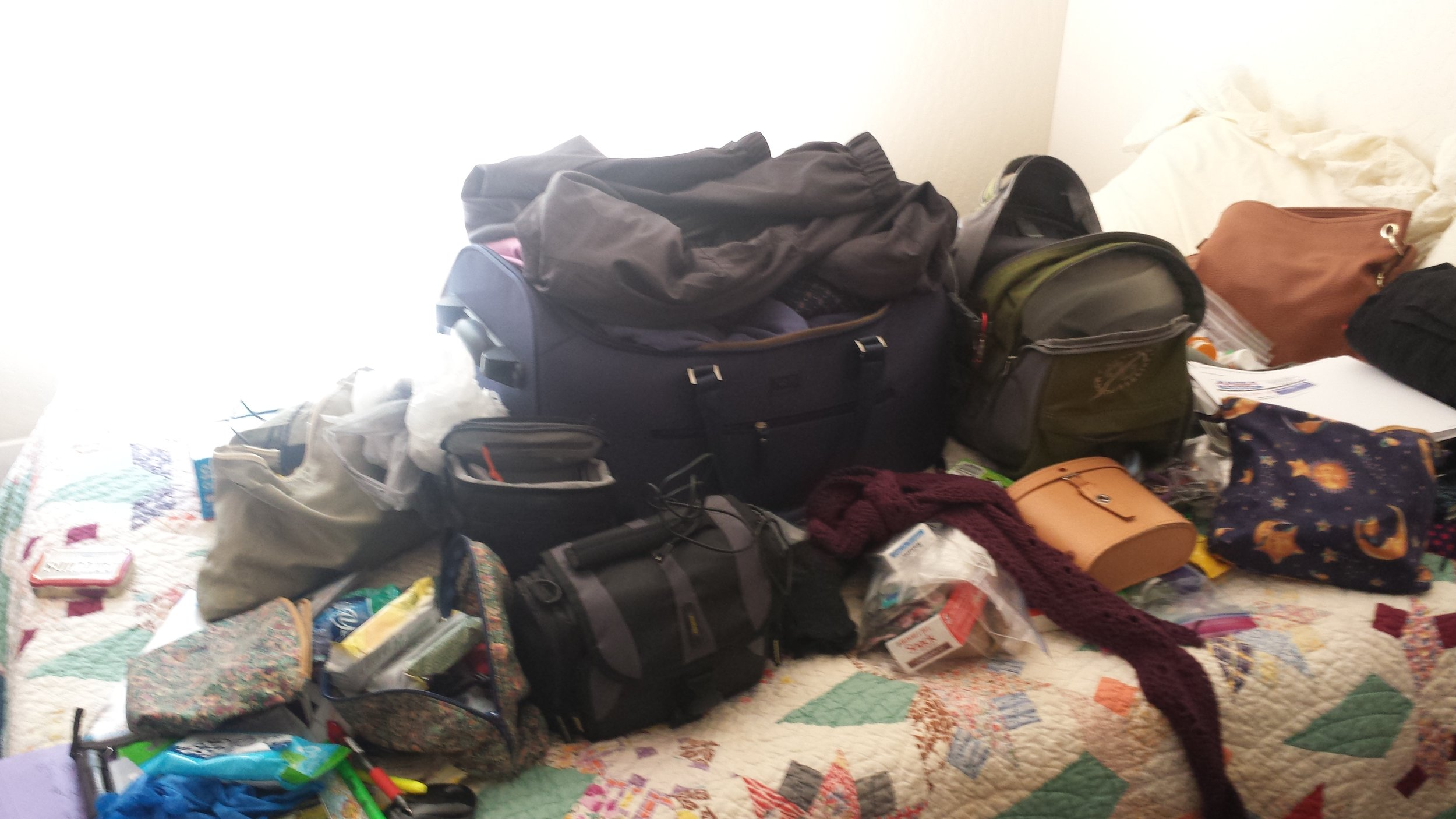 First packing attempt....
