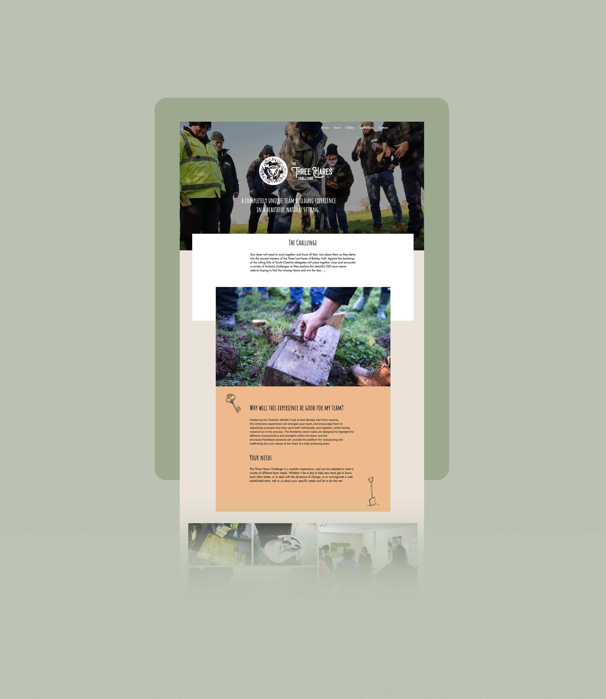 Cheshire Wildlife Trust - Three Hares - Branding, Website Design & illustration