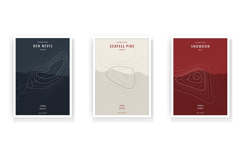 3 Peaks Posters - Poster Design