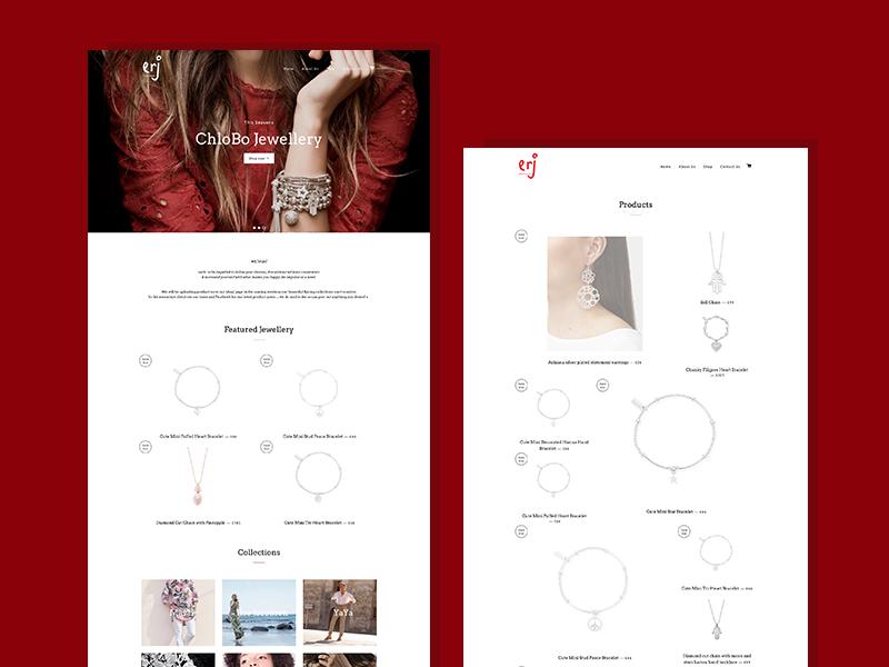 erj boutique - Branding & Website Design