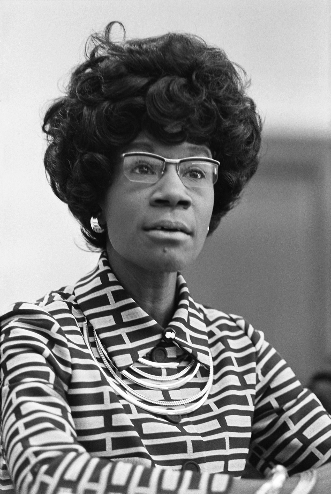 """If they don't give you a seat at the table, bring a folding chair."" - Congresswoman Shirley Chisholm - Photo Credit: Thomas J. O'Halloran"