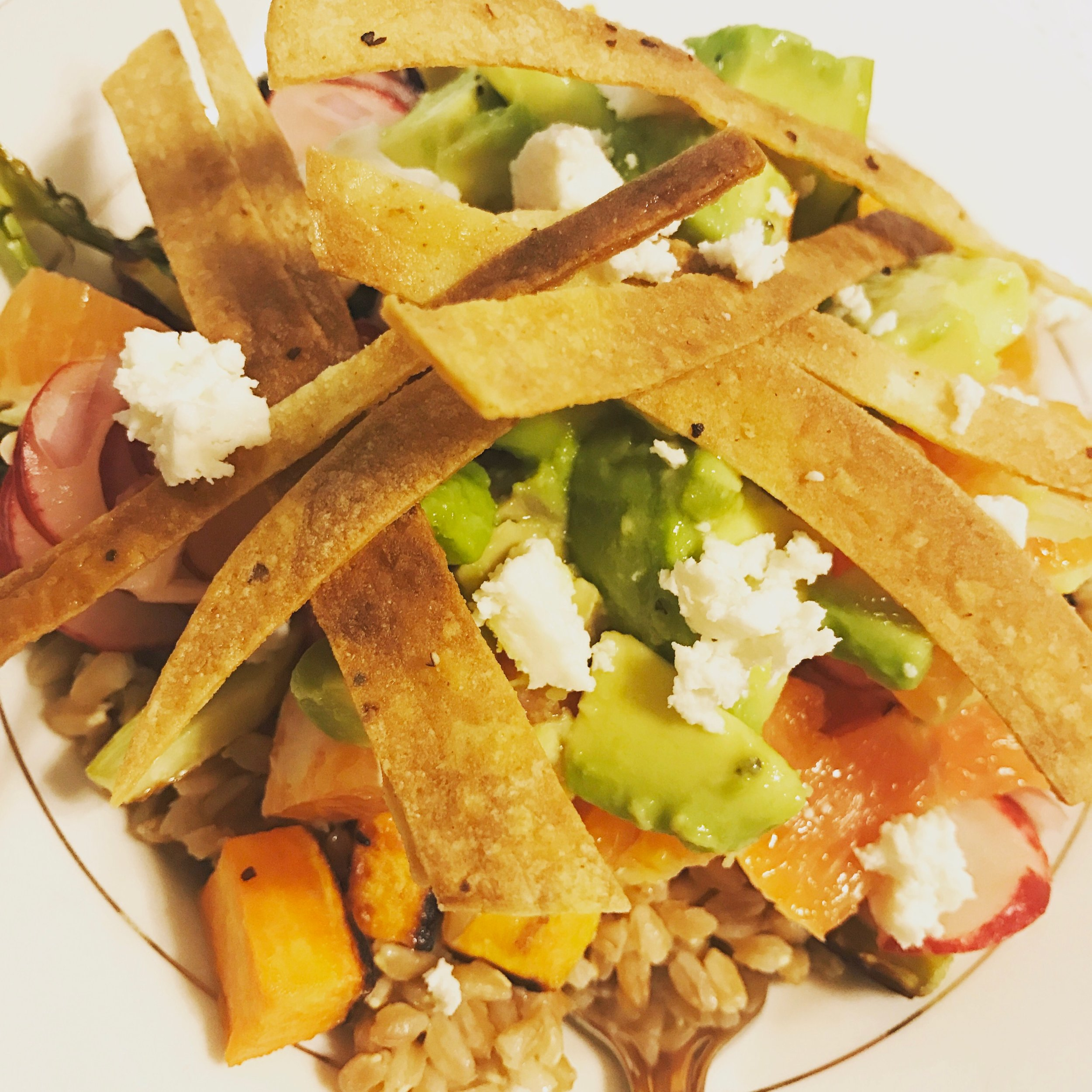 Chipotle Vegetable Farro Salad